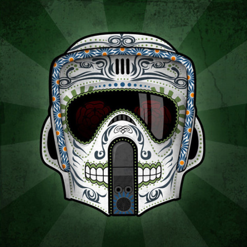Excellent Scout Trooper Sugar Skull Illustration
