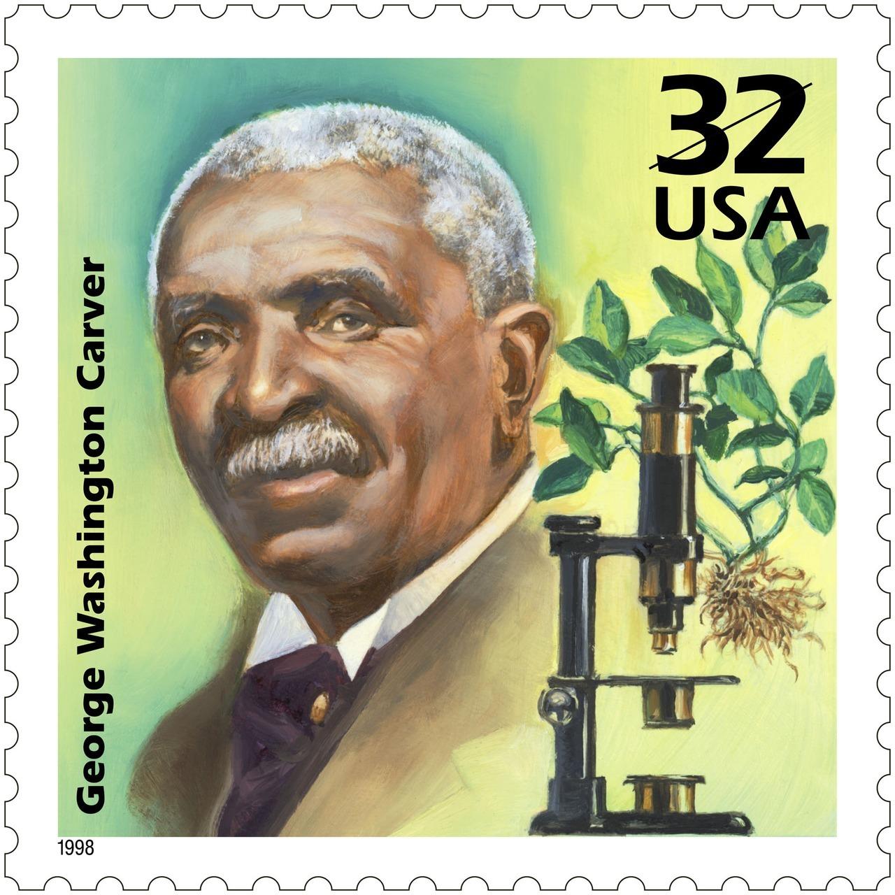Usps Stamps Happy Birthday George Washington Carver