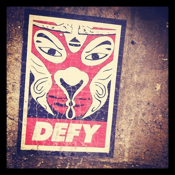 #hkart #obey #defy #defyeject #eject #ejectbrand #graffiti #hongkong #hkgraffiti #hkstreetart #streetart #giant #mask #wallart #wheatpaste #wallpainting #art - @twenty_first_century- #webstagram