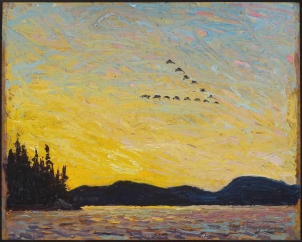 Art Of Day Lake Mud Bay Fall 1915 Tom