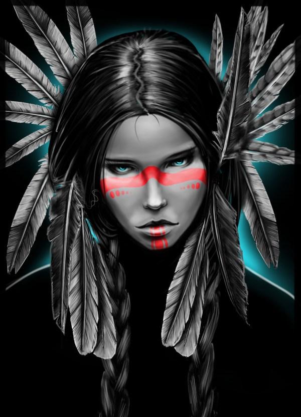 Native American Headdress Girl