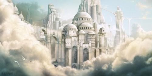 landscape Magic fantasy castle concept art digital art gothic fantasy art geewizzard •