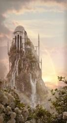 castle fantasy concept gothic magic landscape digital castles sedeptra tower mountain palace painting landscapes chapel paintings artwork temple elf most