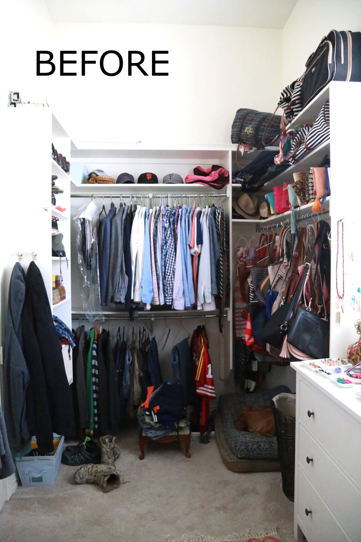 Master Closet Makeover Befores Design Hi Sugarplum