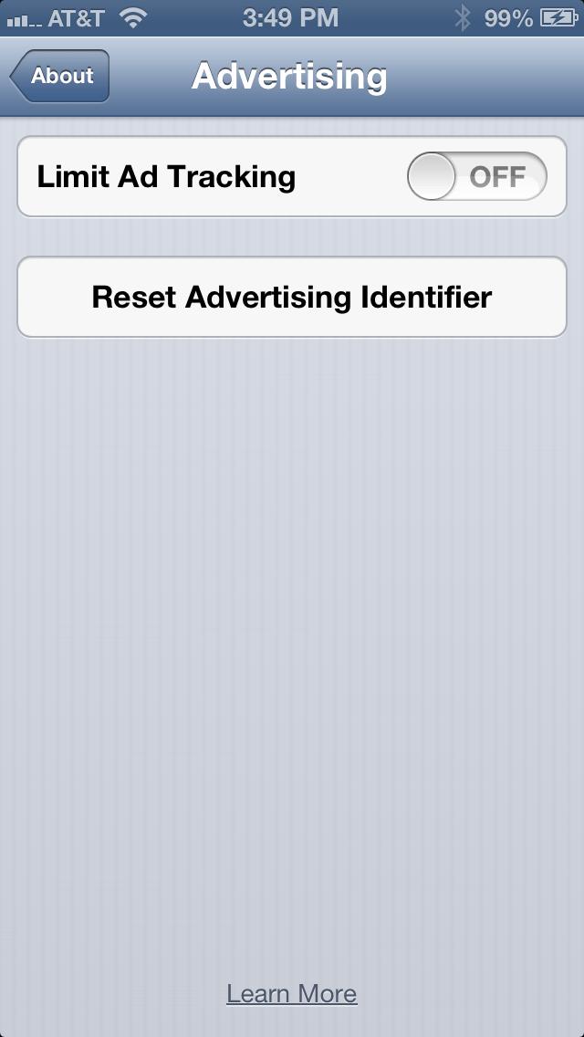 Reset Advertising Identifier