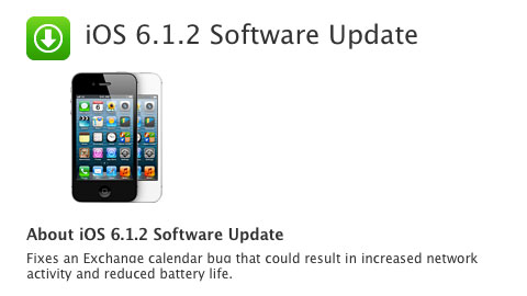 iOS 6.1.2 Software Update