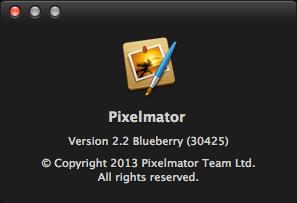 Pixelmator 2.2 Blueberry