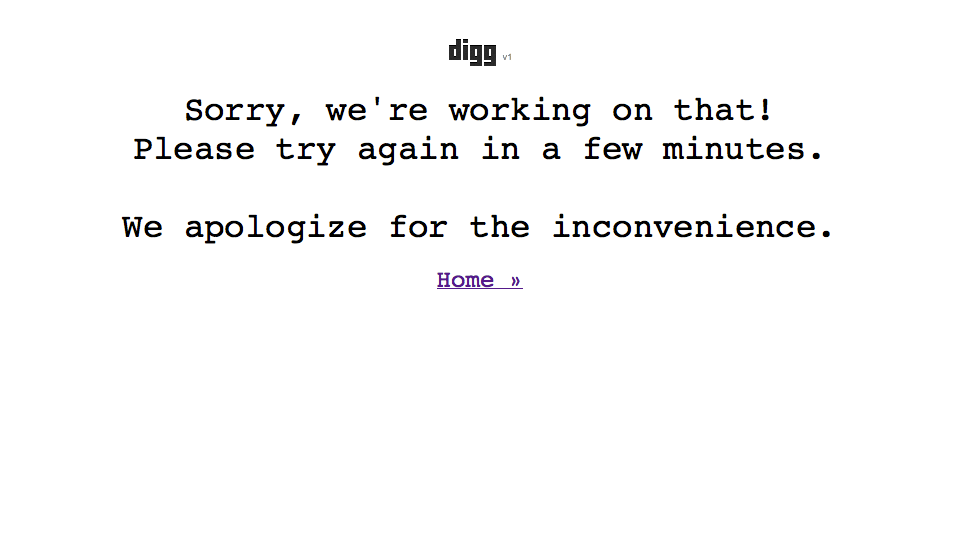 Digg has been Dugg