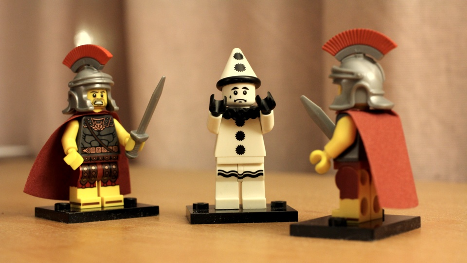 Lego Minifigures Sad Clown Roman Commanders