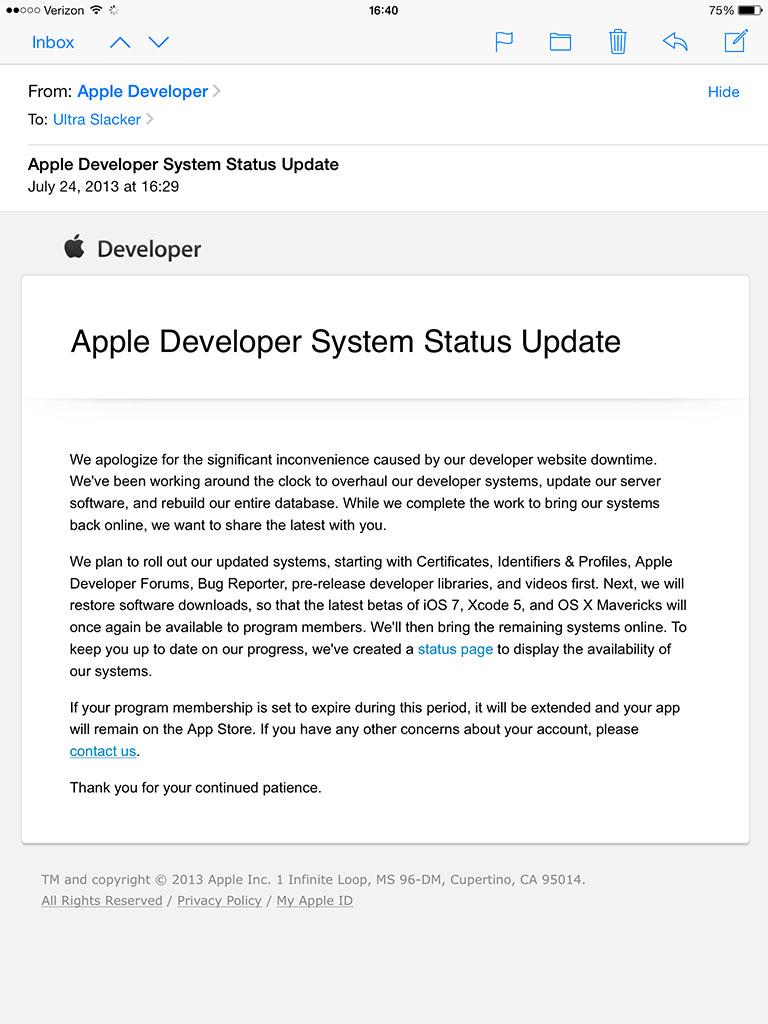 Apple-Developer-System-Status-Update-Email