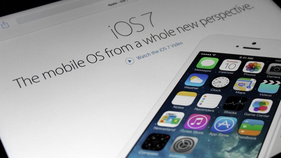 iOS 7 on Apple Website