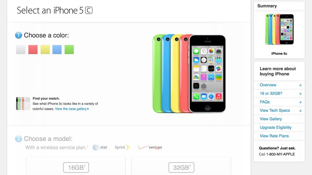 iPhone 5c Pre-order begins