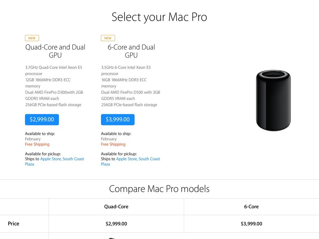 Mac Pro February 2014 shipping time