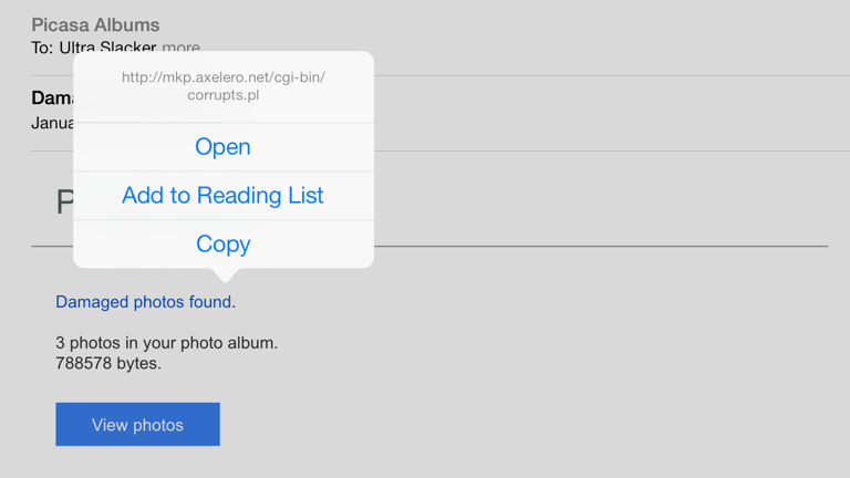 Phishing Alert Fake Picasa Email