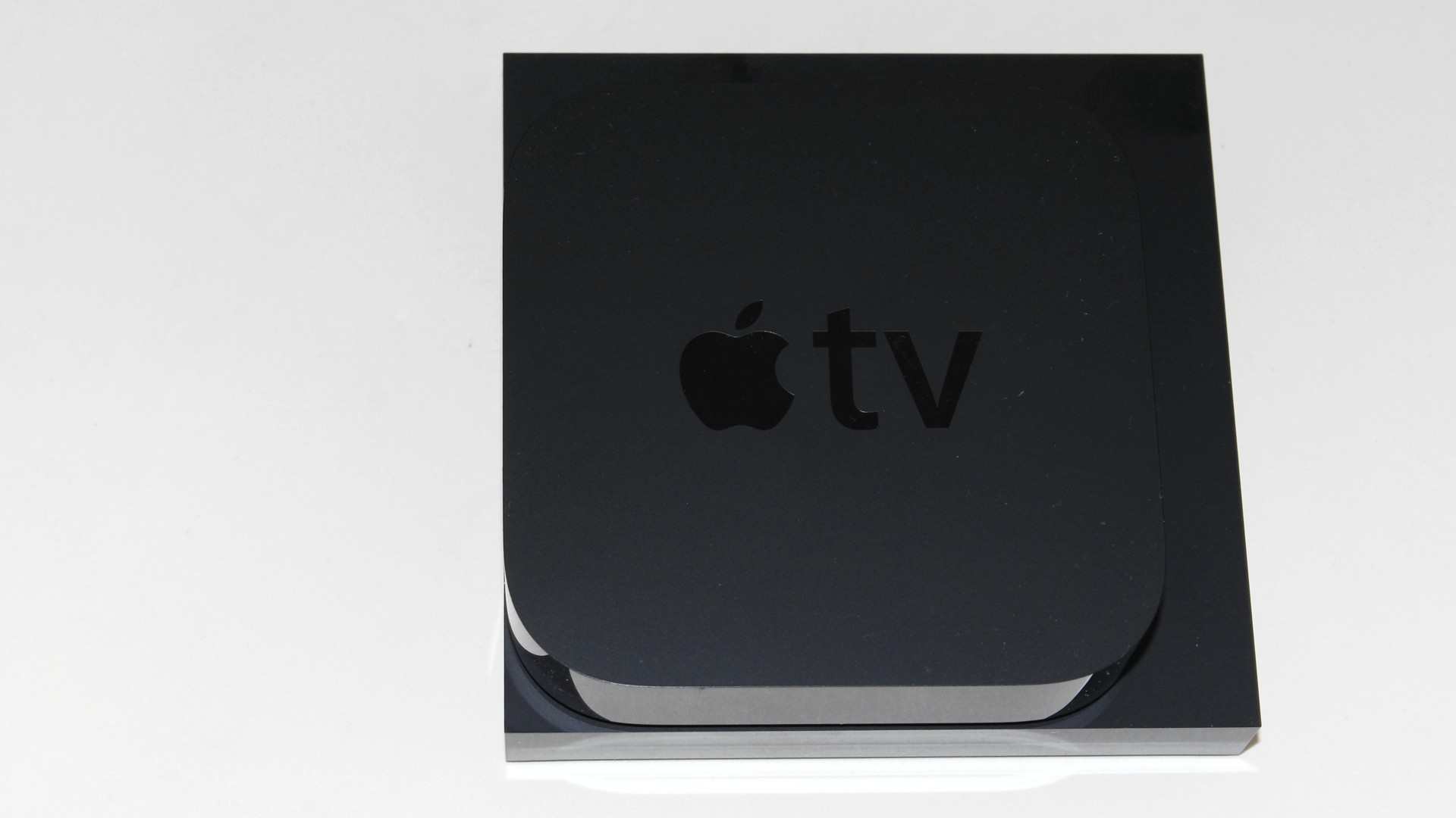 Amazon Fire TV and Apple TV stacked top view