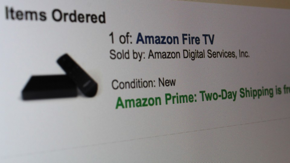 Amazon Fire TV is Ordered