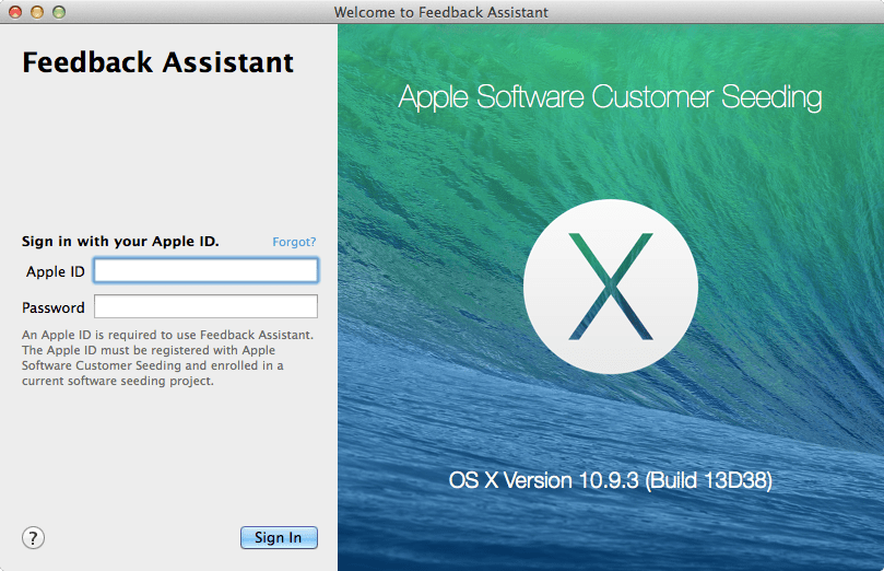 Apple Feedback Assistant