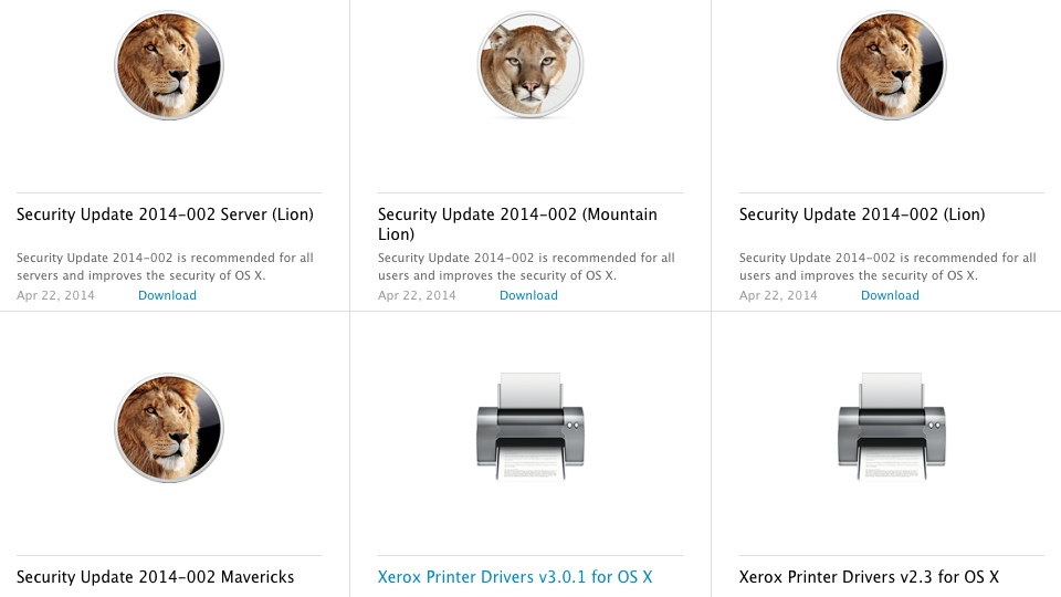 Apple Mac OS X Security Update 2014-002