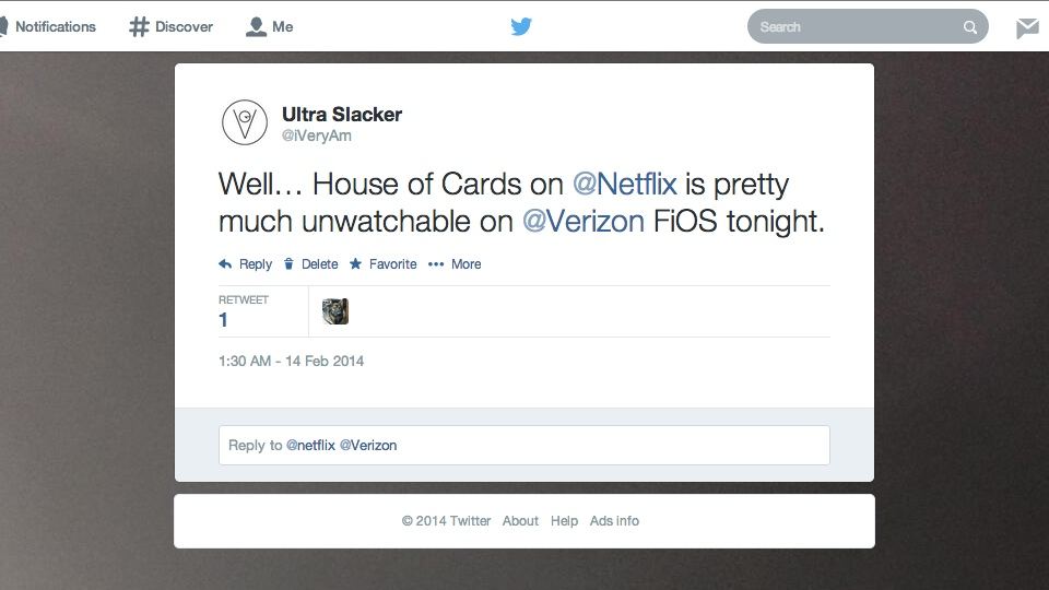 Netflix House of Cards Unwatchable on Verizon FiOS