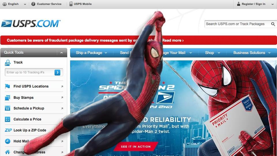 USPS Spider-Man 2014