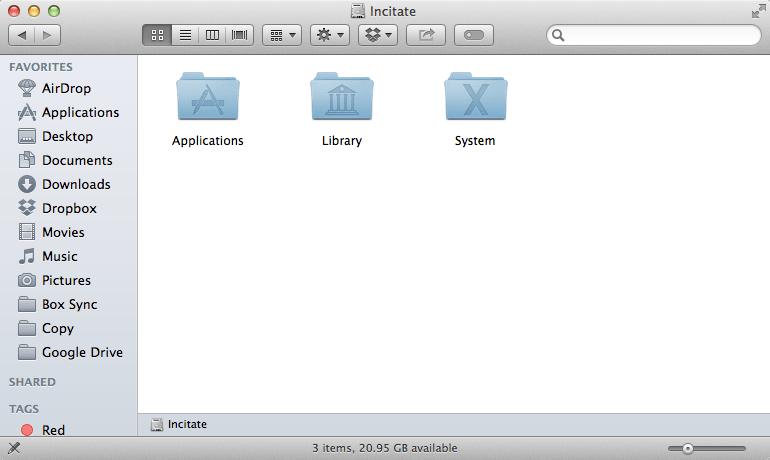 OS X Mavericks 10.9.3 Disk Root Level no Users Folder