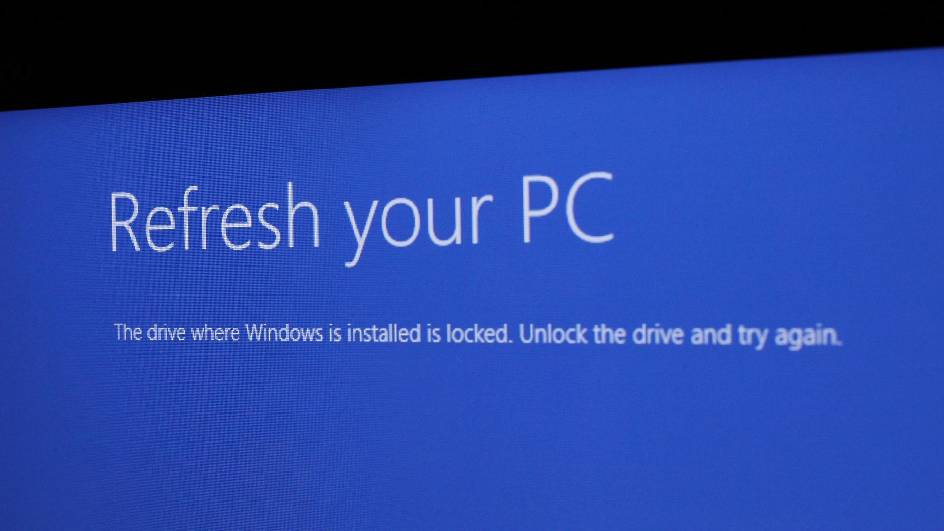 Windows 8.1 drive is locked