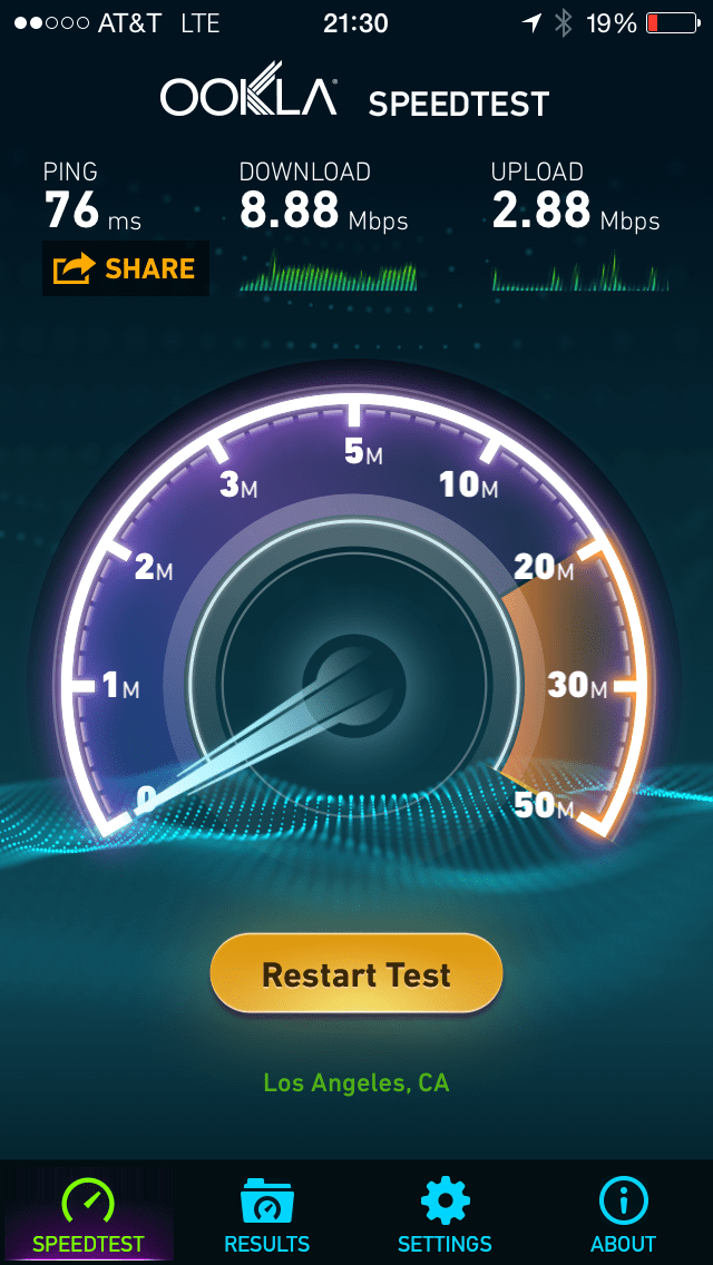 Speed Test Long Beach Downtown AT&T