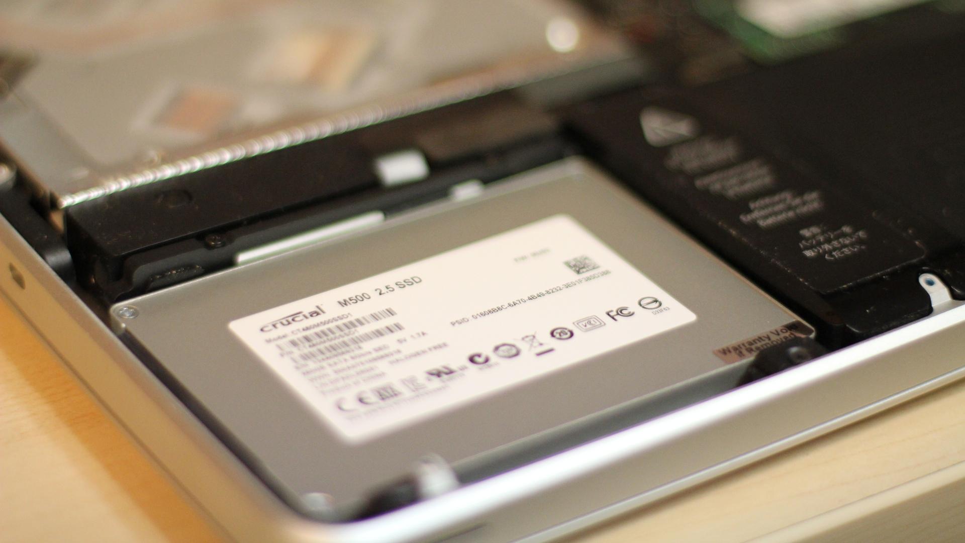 Crucial M500 SSD in a MacBook Pro