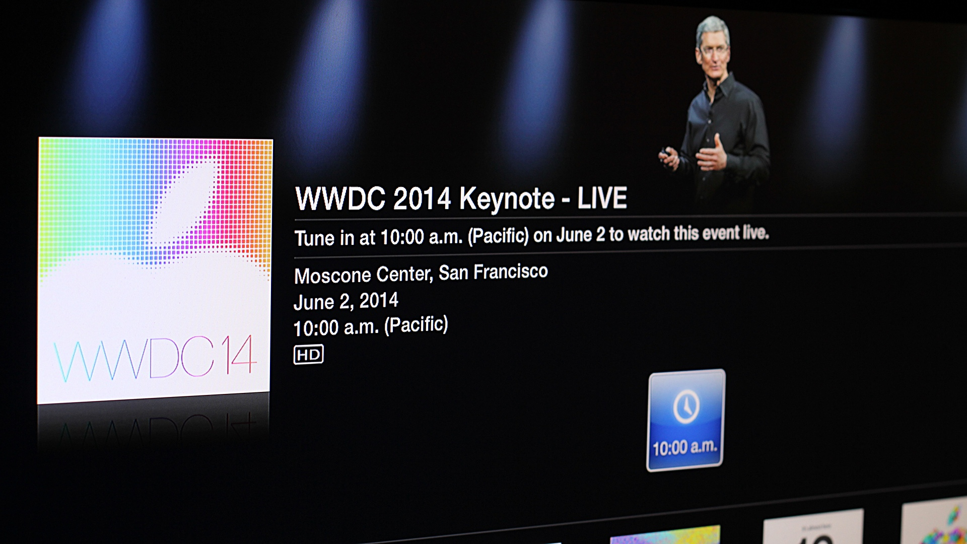 WWDC 2014 Keynote Live Apple TV