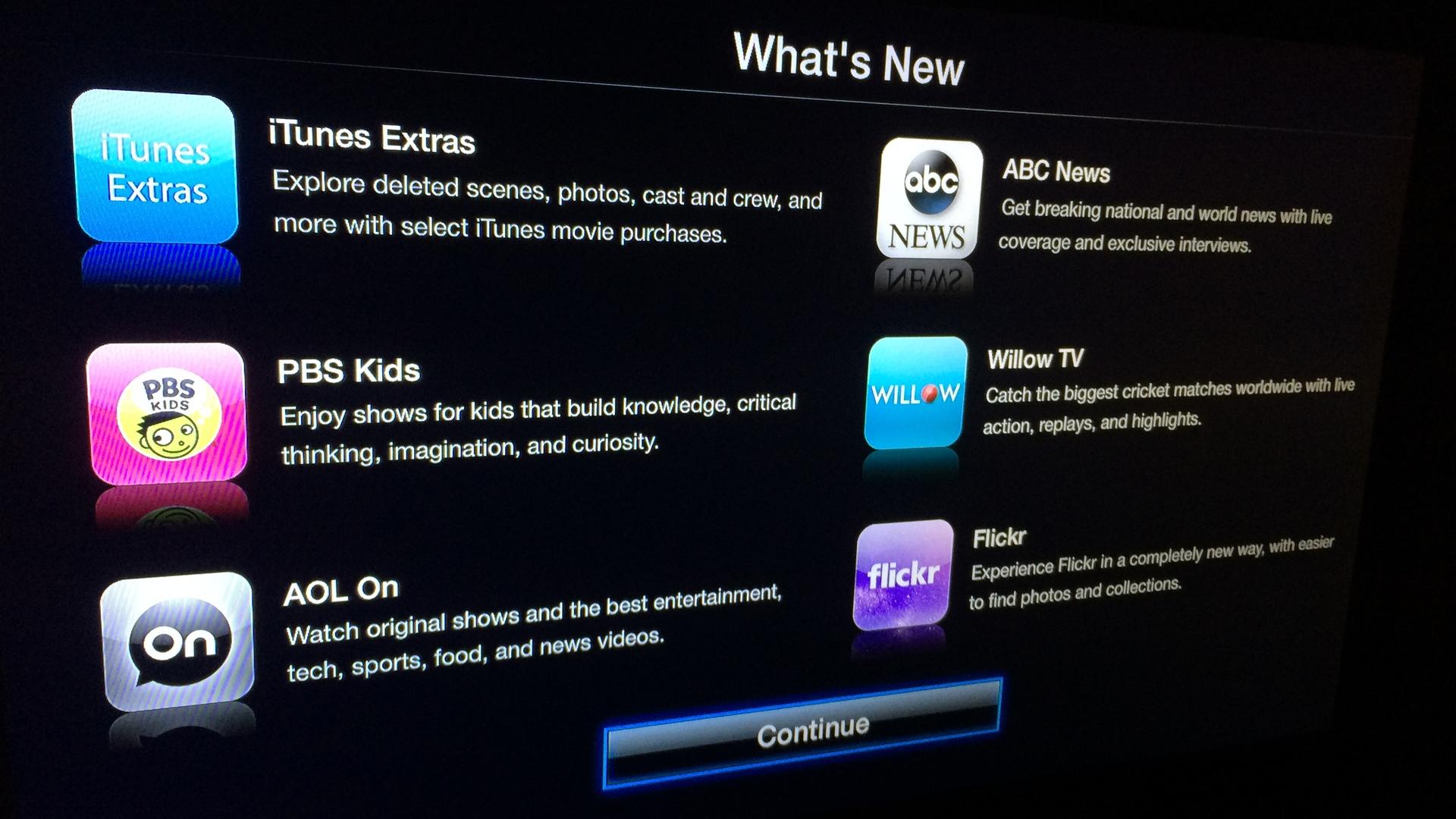 Apple TV iTunes Extra