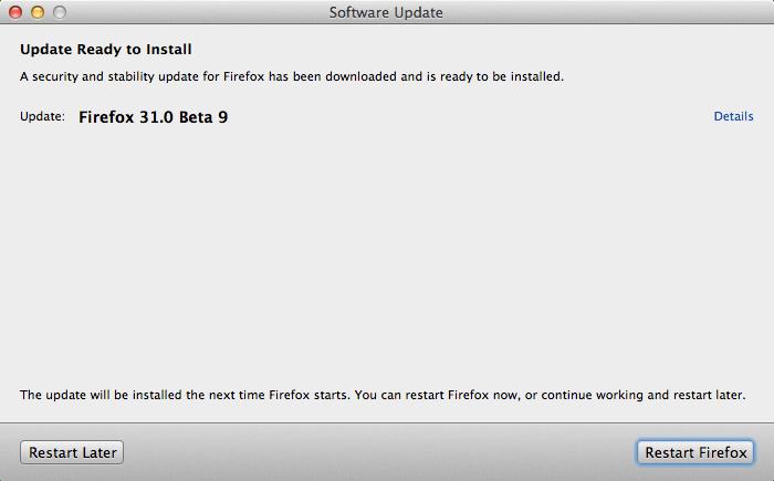 Firefox 31.0 Beta 9