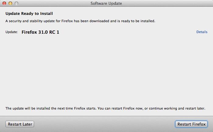 Firefox 31.0 RC 1