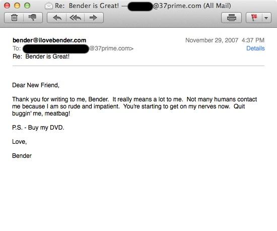ILoveBender Email 1