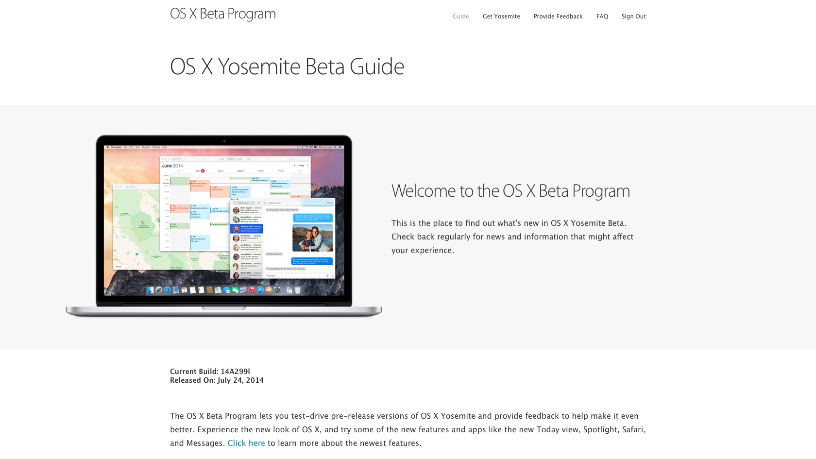 OS X Yosemite Beta Program Now Live