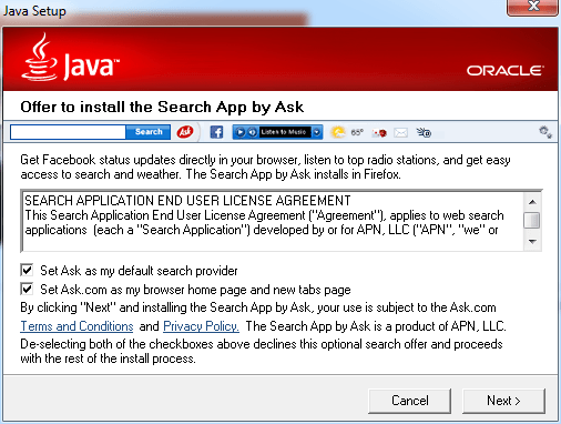 Java Installer Ask Search
