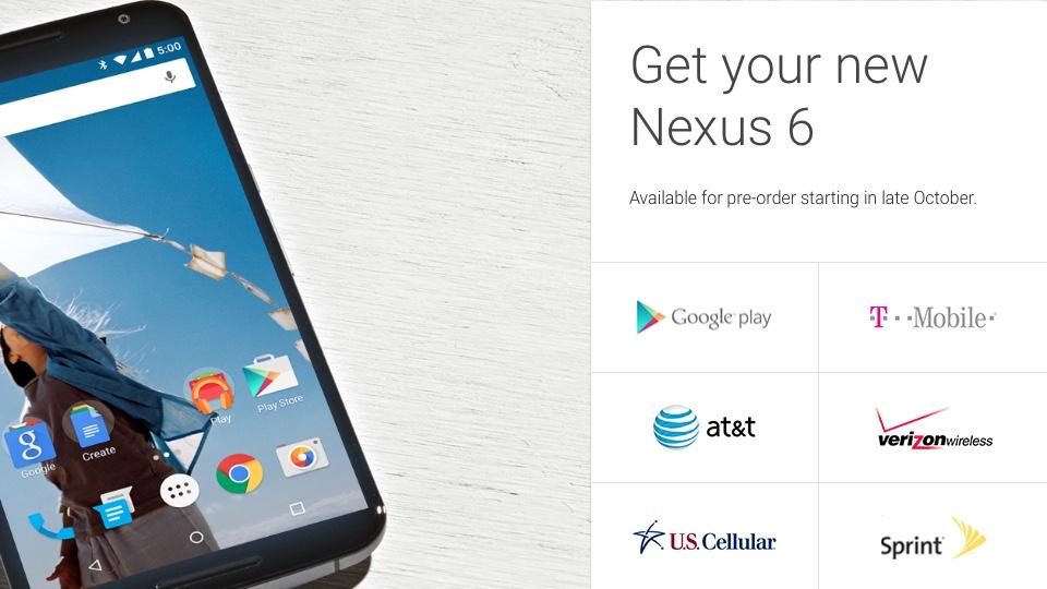 Nexus 6 Availability