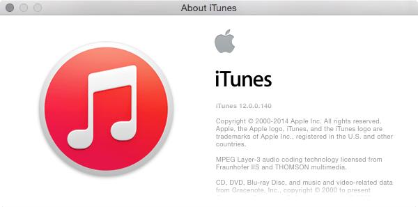 iTunes 12.0.0.140