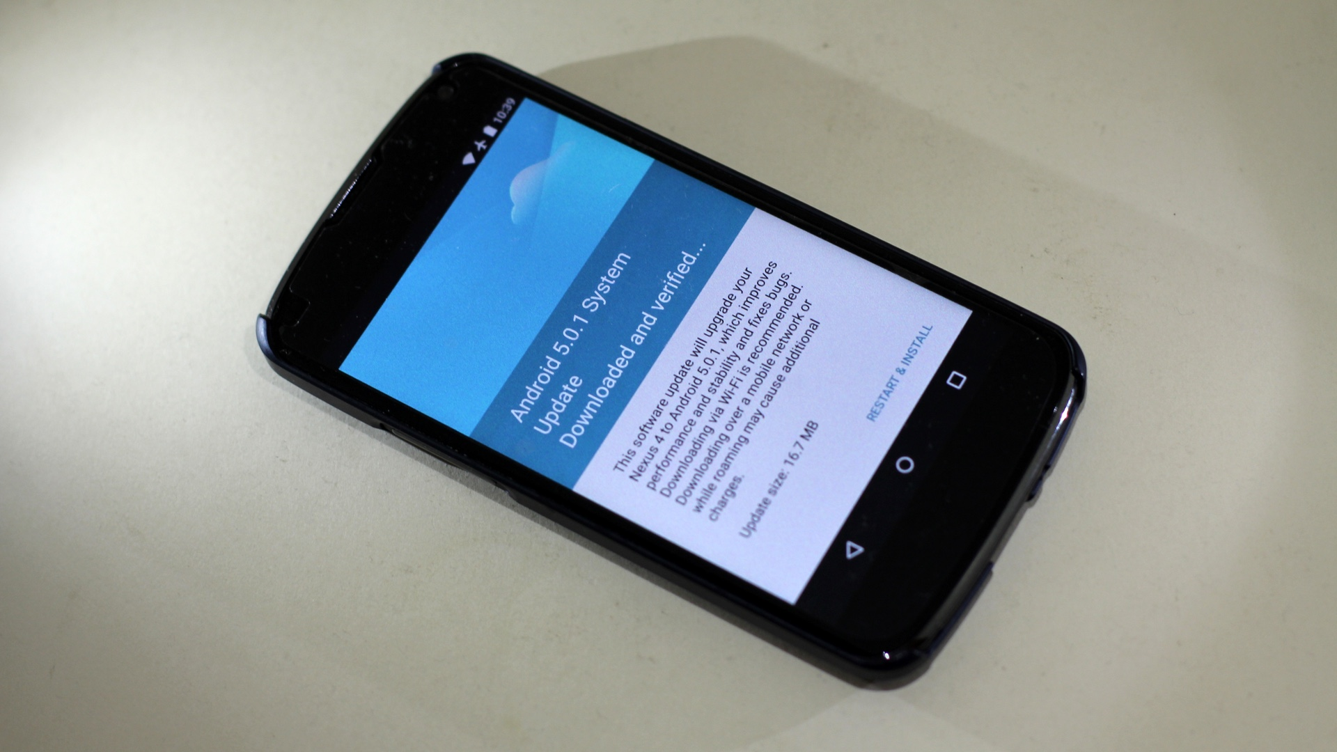 Android 5.0.1 for Nexus 4