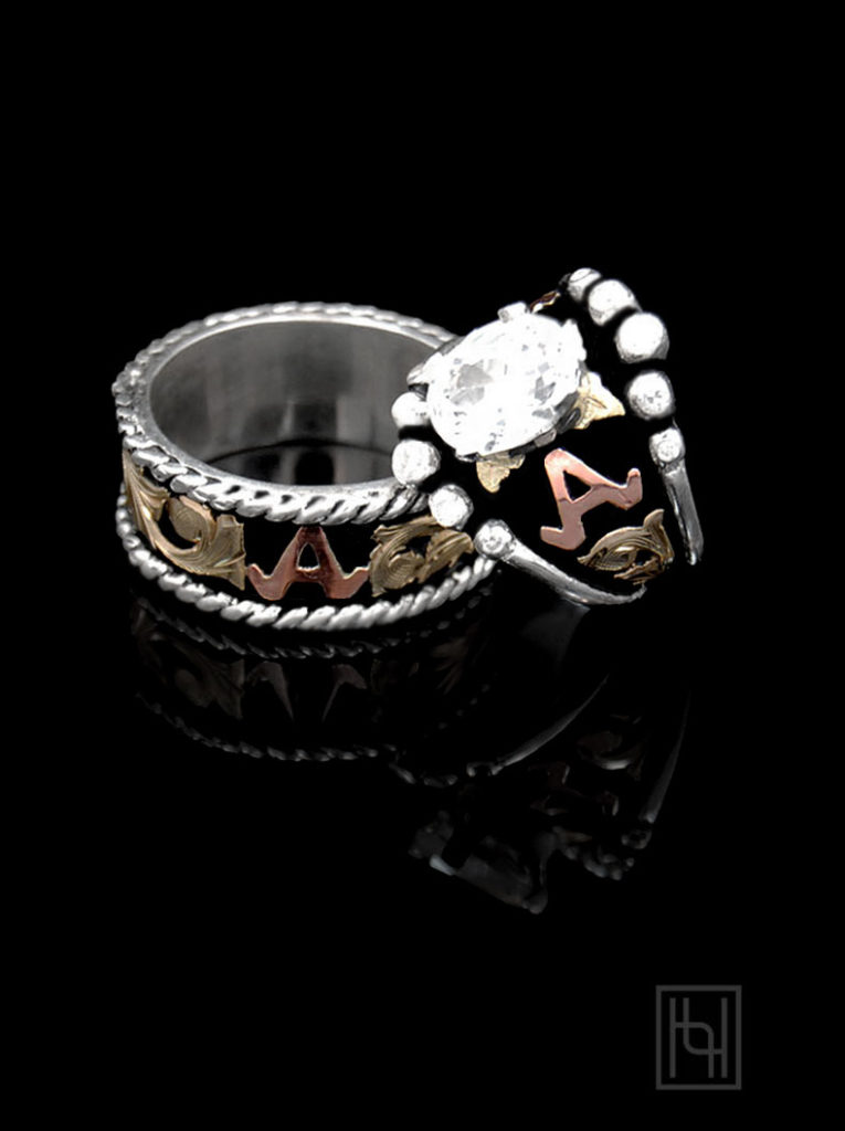 With These Rings Stunning Western Wedding Rings Hyo Silver