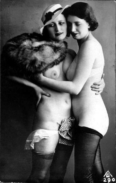 Vintage lesbians. Probably not a fake fur, alas.