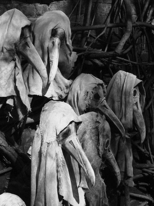 black and white creepy