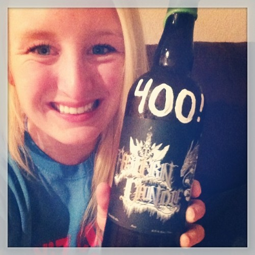 Celebrating over 400 Facebook followers with a bottle of Eastern Candle that I picked up the other day at @trvebrewing! now if only I could get 400 Instagram followers…. #drinkandspoon #beerporn #craftbeer #brettbeer #easterncandle #beer #instabeer #beerpic #alcohol #drinks #colorado #craftbeercommunity #trvebrew