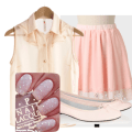 Example of a cute outfit for spring