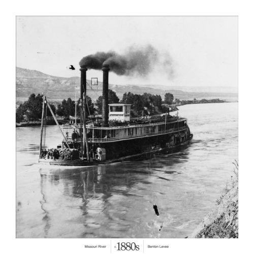 Throwback Thursday.<br /><br /><br /><br /><br /><br /><br /><br /> Full-steam ahead on the Missouri River.