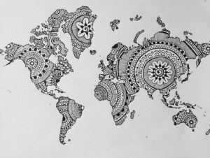 indie drawings drawing draw coloring cool tattoo heart patterns hippie