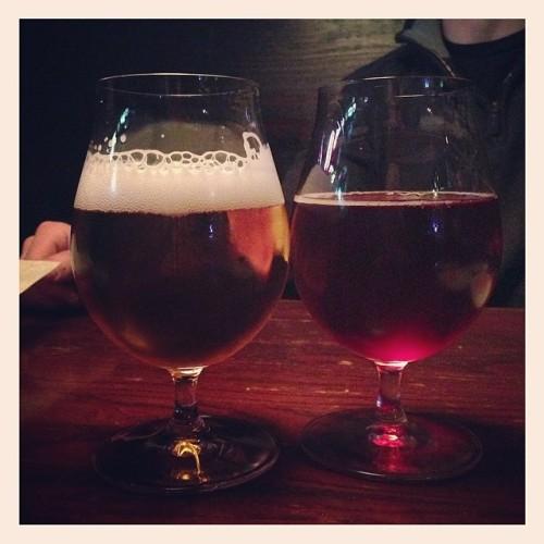 Tonight's Brews: Petrus Aged Pale and Epic's Brainless on Cherries 🍻 @epicbrewing  #drink #beer #beerporn #beertography #beerstagram #instabeer #craftbeer #craftbeercommunity