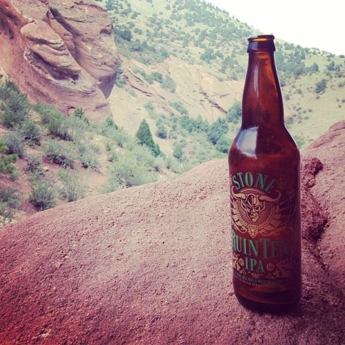 Nice view ☀🍻 @stonebrewingco  #drinkandspoon #redrocks #colorado #beer #beerporn #beerstagram #craftbeer #instabeer #summer