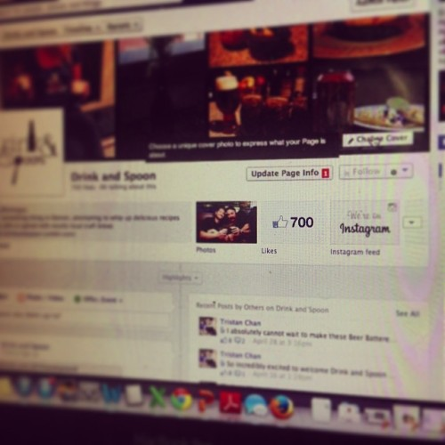 What up 700 Facebook followers!! Thanks for all the love! #drinkandspoon #drink #craftbeer #foodporn #recipe #cooking #drinking #friends