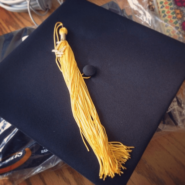 My cap and gown are sitting on the kitchen table. I was beginning to think I'd just end up in college forever. (Not false yet though, jumping right back in after graduation!)