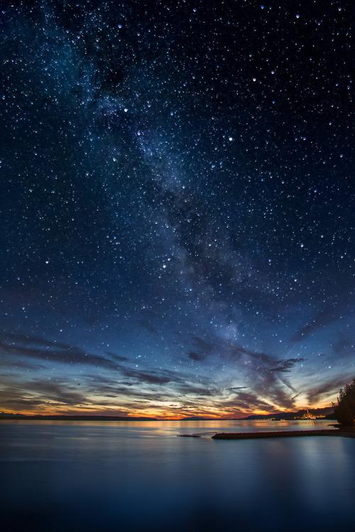 Lg V20 3d Wallpaper Sky Landscape Upload Galaxy Stars Starry Clouds Colors